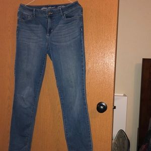 Size 12 specially dyed jeans by Eddie Bauer